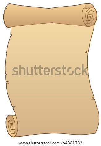 Ancient paper scroll 2 - vector illustration. - stock vector