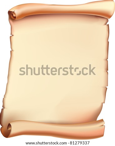 Ancient scroll. Vector. - stock vector