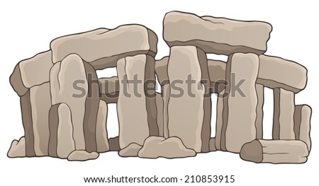 Ancient stone monument theme 1 - eps10 vector illustration. - stock vector