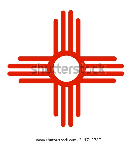 ancient sun symbol zia native american stock vector 311713787 rh shutterstock com Free Cartoon Sun Free Sun Graphics