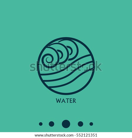 Ancient Symbol Water Element Subscribe Stock Vector 552121351