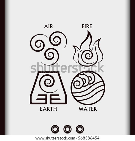 Ancient Symbols Four Elements Subscribe Stock Vector 568386454