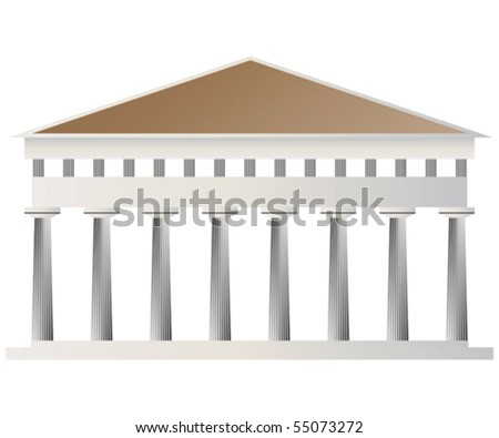 Ancient temple - stock vector