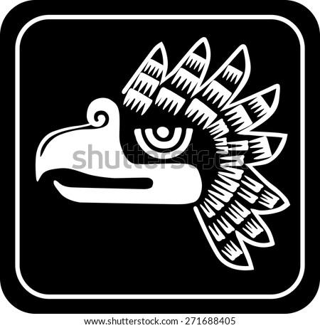 Ancient tribal symbols. Vector  EPS 8 - stock vector