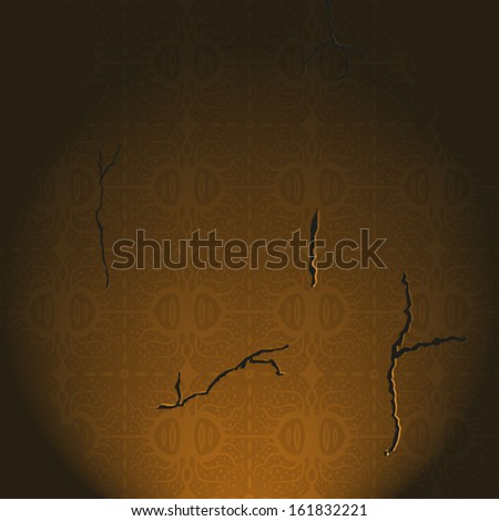 Ancient wall background - stock vector