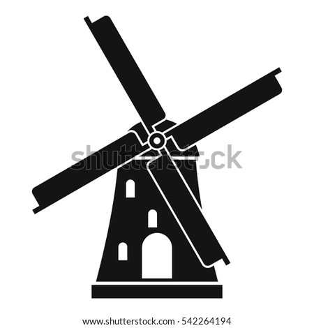 ancient windmill icon simple illustration ancient stock vector 2018 rh shutterstock com windmill vector image windmill vector drawing