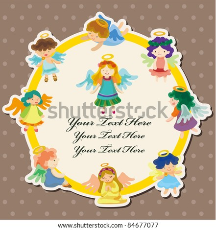 angel card - stock vector