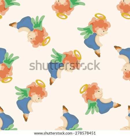 angel cartoon design, cartoon seamless pattern background