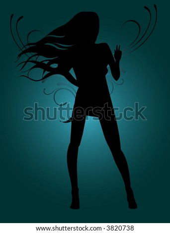 angel in the night - stock vector