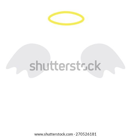 Angel wings and a halo - stock vector