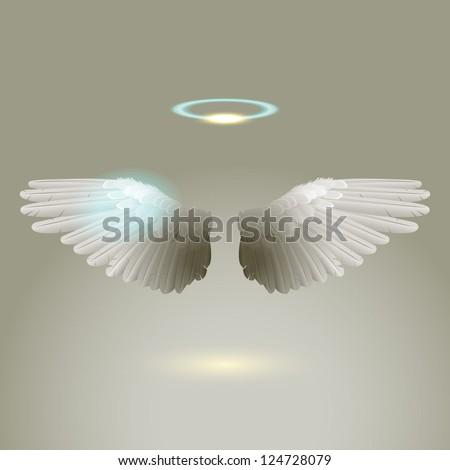 Angel wings, eps10 vector - stock vector