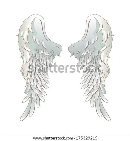 Angel wings vector illustration - stock vector