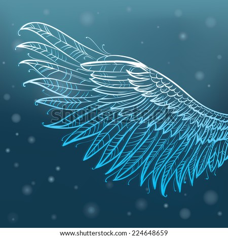 Angel wings, vector illustration  - stock vector