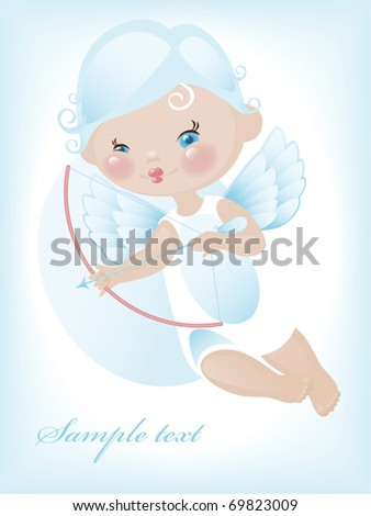 Angel with hearts. valentine 4. Similar in a portfolio - stock vector