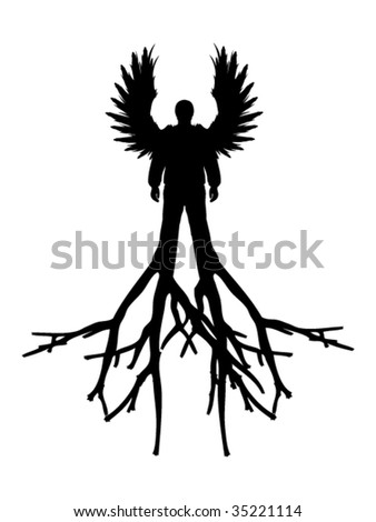 angel with roots