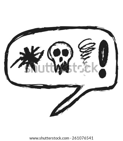 anger, aggression, frustration and bubble speech, vector illustration - stock vector
