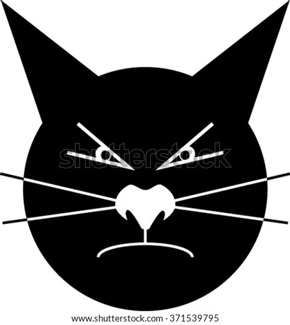 Anger cat - stock vector