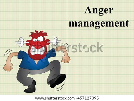 Anger management on graph paper background with copy space for own text
