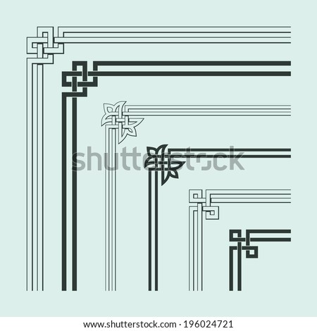 Angle Decoration of Chinese traditional style - stock vector