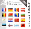 Angle Stickers - European Flags - stock photo