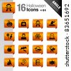 Angle Stickers - Halloween icons - stock vector