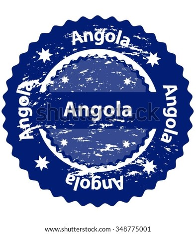 Angola Country Grunge Stamp - stock vector