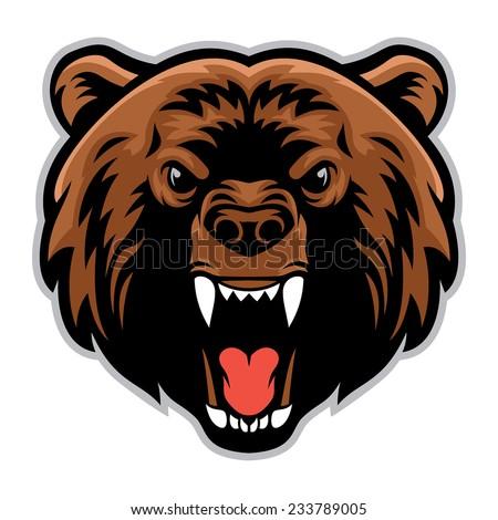 Angry bear head drawing - photo#5