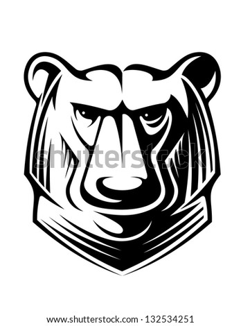 Angry bear mascot. Jpeg (bitmap) version also available in gallery - stock vector