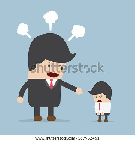 Angry boss and employee, VECTOR, EPS10 - stock vector