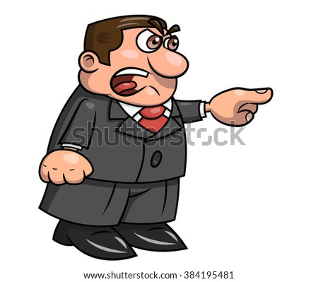Angry boss screaming 2 - stock vector