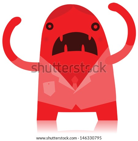 Angry Business Man Monster - stock vector