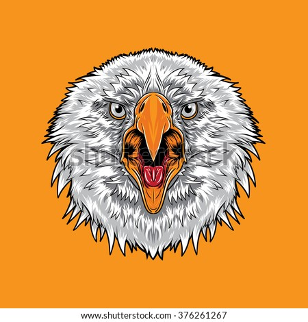 Angry Eagle Open Mouth Stock Vector (2018) 376261267 - Shutterstock