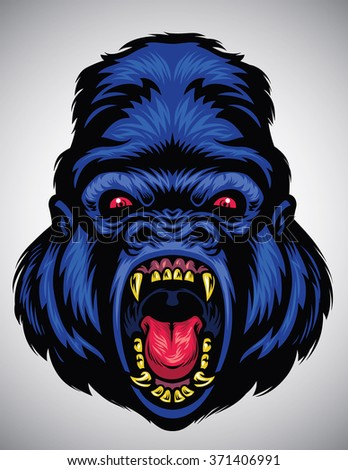 Gorilla Mascot Stock Vector 164020256 - Shutterstock
