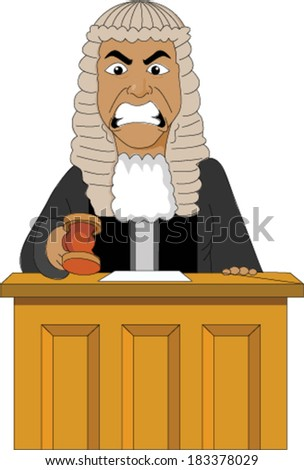 Angry Judge - stock vector