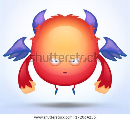Angry Monster - stock vector