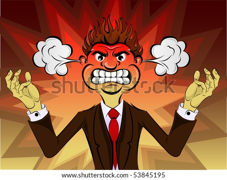 Angry Person - stock vector