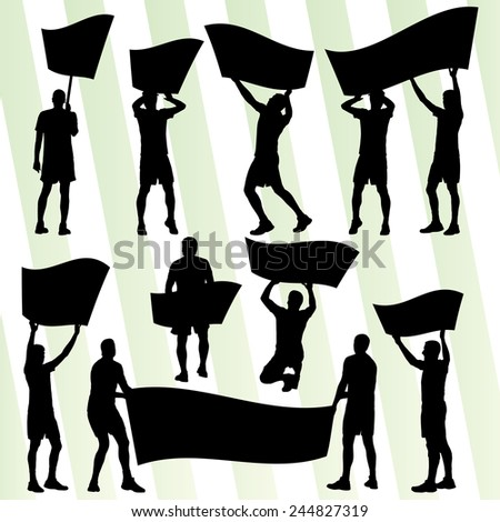 Angry protesters vector background concept - stock vector