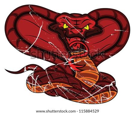 Angry Snake - stock vector