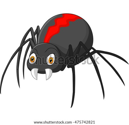Angry Spider Cartoon Stock Vector 475742821 Shutterstock