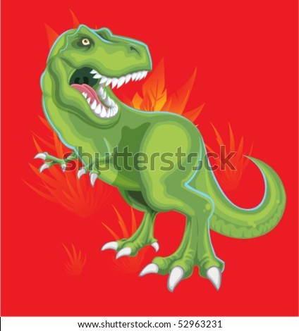 Angry T-Rex - stock vector