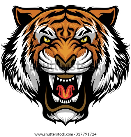 Tiger head logo design - photo#49