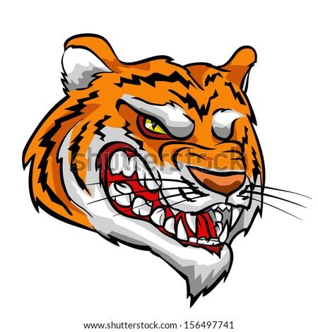 Angry Tiger mascot - stock vector