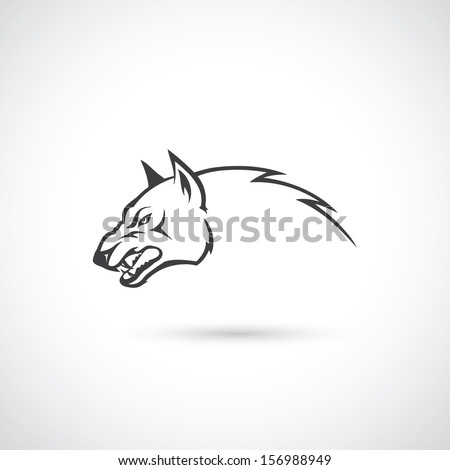 Angry wolf - vector illustration - stock vector