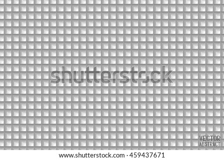 Angular Black and White Background. Wall Construction. Square Pattern. Triangular Structure Texture. Vector. 3d Illustration