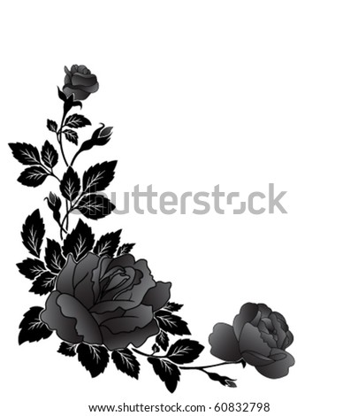 Angular flower pattern, rose - stock vector
