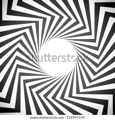 Angular spiral background. whirlpool, hypnotism, rays, rotation, abstract, whirl, whorl, swirl background - stock vector