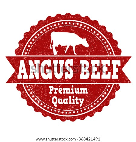 Angus beef grunge rubber stamp on white background, vector illustration - stock vector