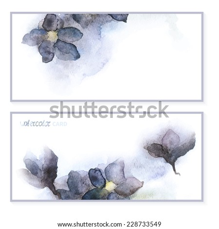 Anhuza. new watercolor. card. frame - stock vector