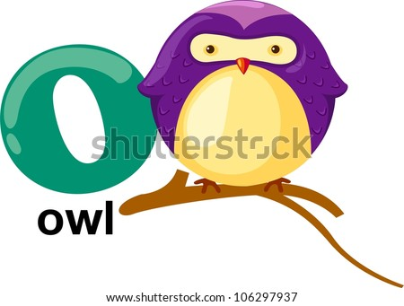animal alphabet letter o stock vector 106297937 - shutterstock