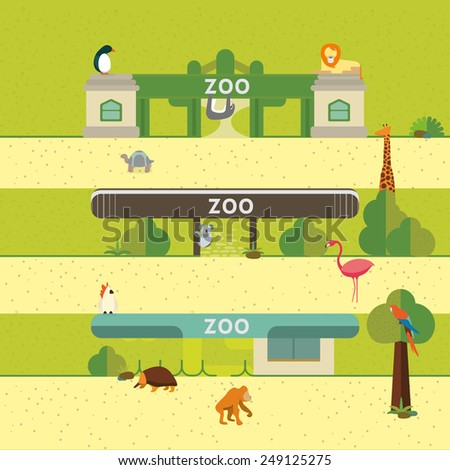 Animal and Zoo - stock vector